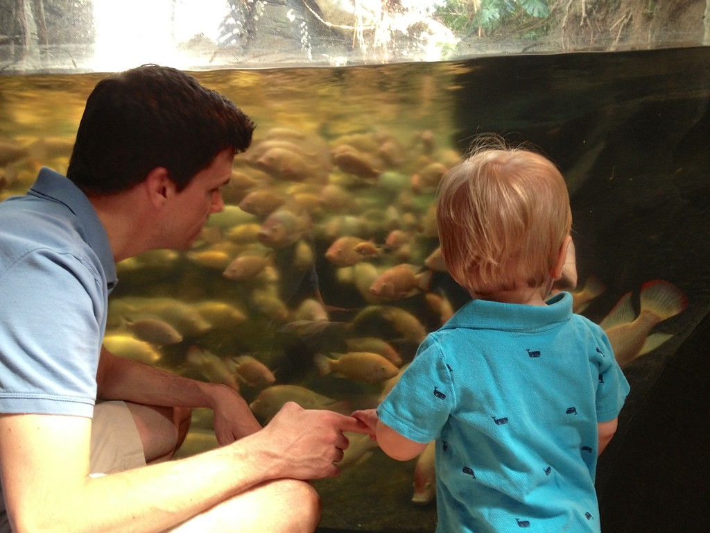 Brian & Preston with Fish