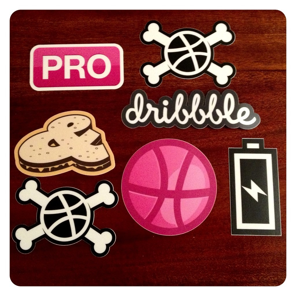 Mail call! @dribbble stickers from @stickermule