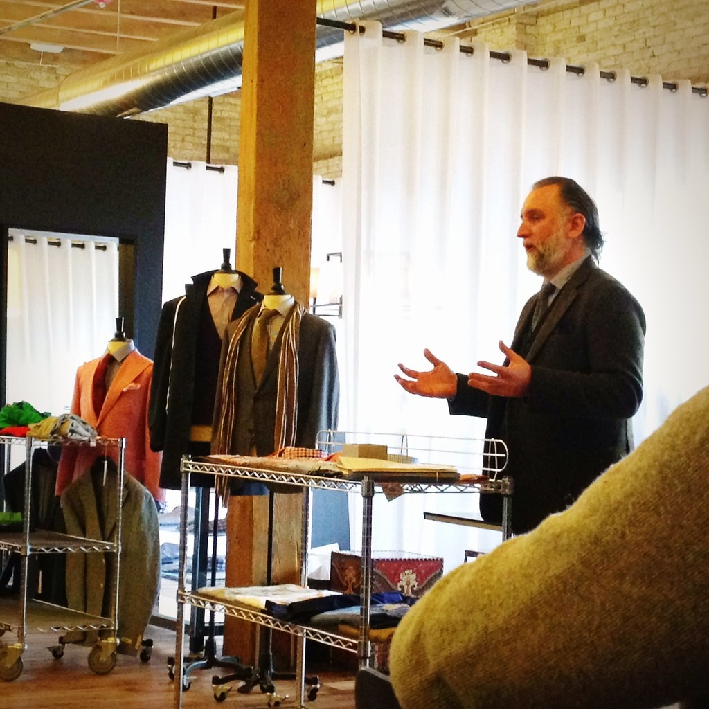 Jack Spade VP and Brand Director Cuan Hanly speaks at Trunk Club